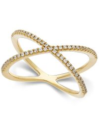 Arabella | Yellow Swarovski Zirconia X-ring In 14k Gold | Lyst
