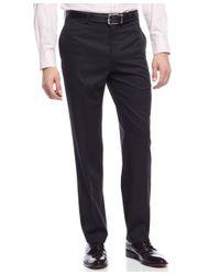 Lauren by Ralph Lauren - Slim-fit 100% Wool Solid Black Dress Pants for Men - Lyst