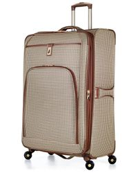 "London Fog | Green Closeout! Cambridge 21"" Carry On Spinner Suitcase for Men 