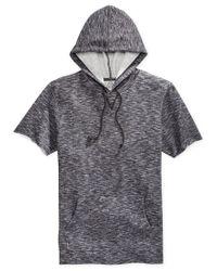 American Rag | Gray Men's Marled Short-sleeve Hoodie for Men | Lyst