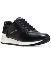 Michael Kors - Black Allison Trainer Sneakers - Lyst