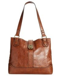 Style & Co. | Brown Style& Co. Twistlock Shopper, Only At Macy's | Lyst