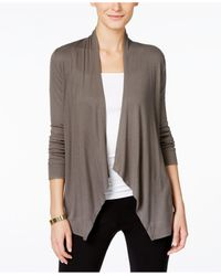INC International Concepts | Gray Draped Cardigan, Only At Macy's | Lyst