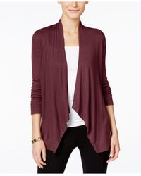 INC International Concepts | Red Draped Cardigan, Only At Macy's | Lyst