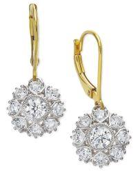 Marchesa - Yellow Certified Diamond Two-tone Snowflake Drop Earrings In 18k Gold (1-1/6 Ct. T.w.) - Lyst