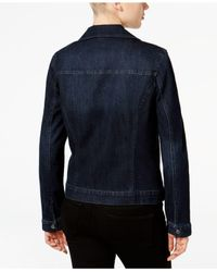 Style & Co.   Blue Denim Moto Jacket   Lyst