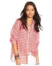 Denim & Supply Ralph Lauren   Red Checked Utility Shirt   Lyst