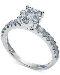 Macy's | Certified Diamond Ring In 14k White Gold (3/4 Ct. T.w.) | Lyst