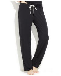 Tommy Hilfiger | Black Modal Drawstring Pajama Pants | Lyst