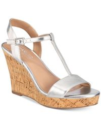 dd7246310d57 Lyst - Charles By Charles David Libra Wedge Sandal in Metallic