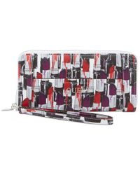 Guess | Red Delaney Large Zip Around Wallet | Lyst