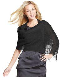 Style & Co.   Natural Woven Metallic Crochet Wrap   Lyst