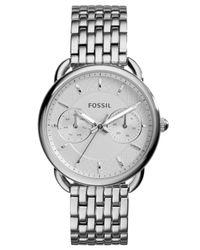Fossil | Metallic Women's Tailor Stainless Steel Bracelet Watch 35mm Es3712 | Lyst