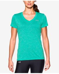 Under Armour | Green Under Amour Ua Tech Twist V-neck Tee | Lyst