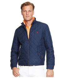 Polo Ralph Lauren | Blue Men's Big And Tall Quilted Barracuda Jacket for Men | Lyst