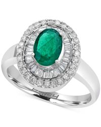 Effy Collection | Metallic Emerald (3/4 Ct. T.w.) And Diamond (1/2 Ct. T.w.) Ring In 14k White Gold | Lyst