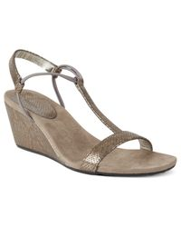 Style & Co. | Metallic Mulan Wedge Sandals, Only At Macy's | Lyst