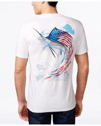Guy Harvey | White Men's Star Spangled Guy T-shirt for Men | Lyst