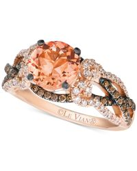 Le Vian | Orange Morganite (1-3/8 Ct. T.w.) And Diamond (5/8 Ct. T.w.) Ring In 14k Rose Gold | Lyst