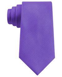 Geoffrey Beene - Purple Bias Stripe Solid Tie for Men - Lyst