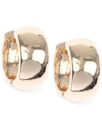 Nine West - Metallic Huggie Hoop Earrings - Lyst