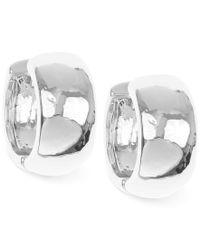 Nine West | Metallic Huggie Hoop Earrings | Lyst