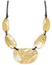 INC International Concepts   Metallic Metal Statement Necklace   Lyst
