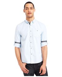Kenneth Cole Reaction - Blue Micro-check Shirt for Men - Lyst