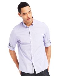 Kenneth Cole Reaction - Purple Micro-check Shirt for Men - Lyst
