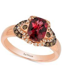 Le Vian | Multicolor Raspberry Rhodolite Garnet (1-1/2 Ct. T.w.) And Diamond (1/5 Ct. T.w.) Ring In 14k Rose Gold | Lyst