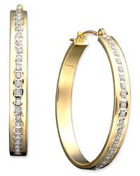 Macy's - Metallic 14k Gold Diamond Accent Bold Hoop Earrings - Lyst
