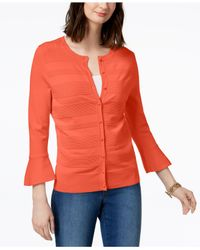 Charter Club - Multicolor Bell-sleeve Cardigan, Created For Macy's - Lyst
