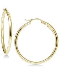 Giani Bernini - Metallic Polished Hoop Earrings In 18k Gold-plated Sterling Silver - Lyst