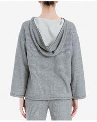 Max Studio - Gray Pullover Hoodie - Lyst