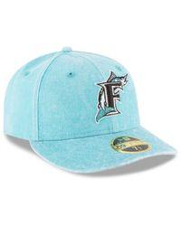 Lyst - KTZ Florida Marlins 59fifty Bro Cap in Blue for Men abd6a82fc813