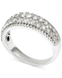 Macy's | Metallic Diamond Two-row Band (1 Ct. T.w.) In 14k White Gold | Lyst