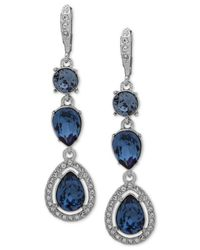 Givenchy - Multicolor Stone & Crystal Halo Drop Earrings - Lyst