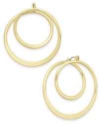 INC International Concepts - Metallic Gold-tone Spiral Hoop Earrings - Lyst