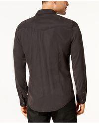Guess - Black Men's Sandwashed Western Shirt for Men - Lyst