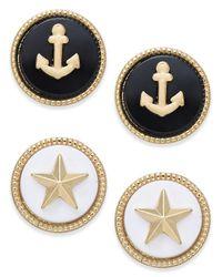 Charter Club | Metallic Gold-tone 2-pc. Set Marina-theme Stud Earrings | Lyst