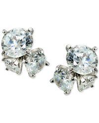 Giani Bernini - Metallic Cubic Zirconia Cluster Stud Earrings In Sterling Silver - Lyst