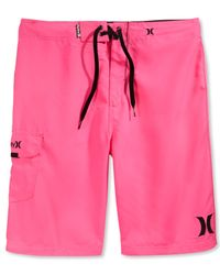 "Hurley | Pink Men's One & Only 22"" Board Shorts for Men 