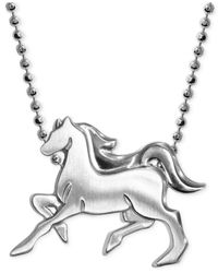 Alex Woo | Metallic Little Horse Zodiac Pendant Necklace In Sterling Silver | Lyst