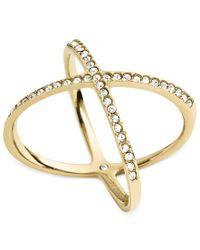 Michael Kors | Metallic Circle X Ring | Lyst