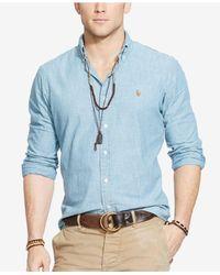 Polo Ralph Lauren | Blue Classic-fit Chambray Shirt for Men | Lyst