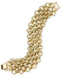 2028   Metallic Gold-tone Chain Multi-link Bracelet   Lyst