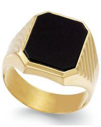 Macy's | Multicolor Men's Onyx (3-3/4 Ct. T.w.) Ring In 14k Gold for Men | Lyst