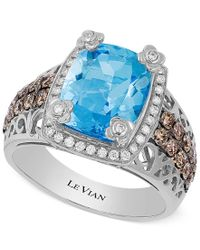 Le Vian | Ocean Blue Topaz (4 Ct. T.w.) And Diamond (3/4 Ct. T.w.) Ring In 14k White Gold | Lyst