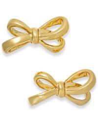 Kate Spade | Metallic Gold-tone Bow Stud Earrings | Lyst