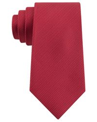 Geoffrey Beene - Red Bias Stripe Solid Tie for Men - Lyst